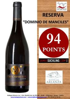 Punane vein Dominio de Manciles, Reserva